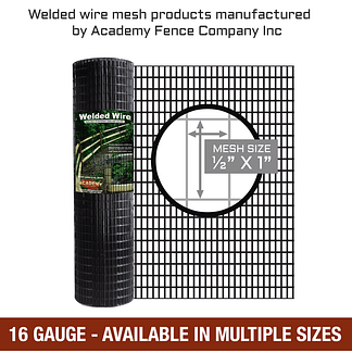 1/2 inch x 1 inch - 16 Gauge - Vinyl coated welded wire