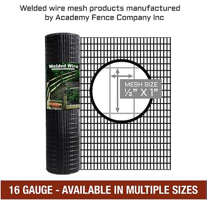 1/2 inch x 1 inch - 16 Gauge - Vinyl coated welded wire