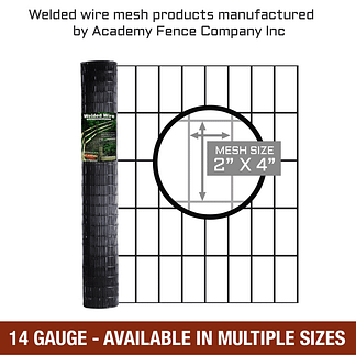 "2""x4"" 14 gauge vinyl coated welded wire roll - Multiple sizes available"