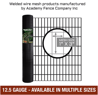 mesh-size 1 inch by 3 inches - 12.5 Gauge - vinyl coated welded wire