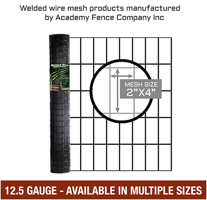 "2""x4"" 12.5 gauge vinyl coated welded wire roll - Multiple sizes available"