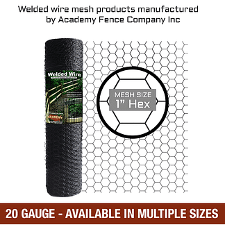 mesh size 1 inch hex - 20 Gauge - vinyl coated hex netting - chicken wire