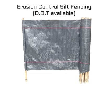 Erosion Control Silt Fence - Silt fences are widely used on construction sites in North America and elsewhere, due to their low cost and simple design