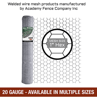 mesh size 1 inch hex - 20 Gauge - Galvanized hex netting or chicken wire