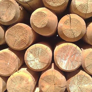 Round Cedar Non Tappered Wood Fence Post