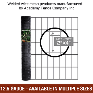 """2""""x4"""" 12.5 gauge vinyl coated welded wire roll - Multiple sizes available"""