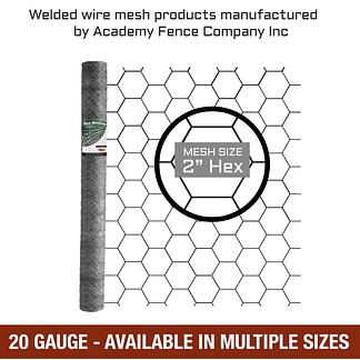 mesh size 2 inches hex - 20 Gauge - Galvanized hex netting or chicken wire