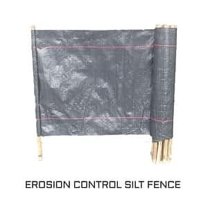 Erosion control cloth silt fence category